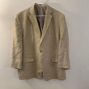 Calvin Klein Suits & Blazers - Calvin Klein Tan 100% Linen Blazer Size 46R
